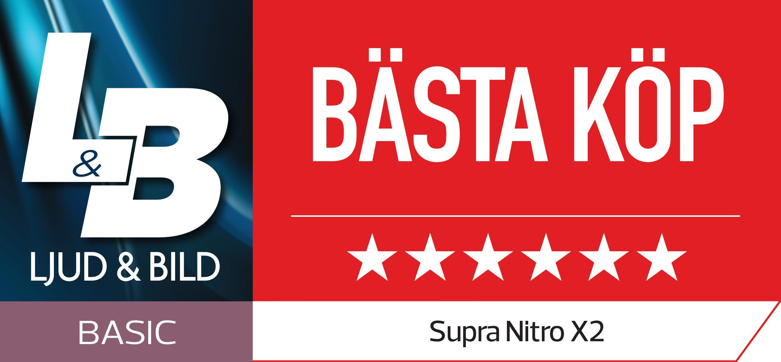 SUPRA NiTRO-X2 | Bästa köp av Ljud & Bild