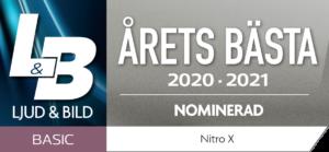 NiTRO-X nominerad årets bästa hörlur