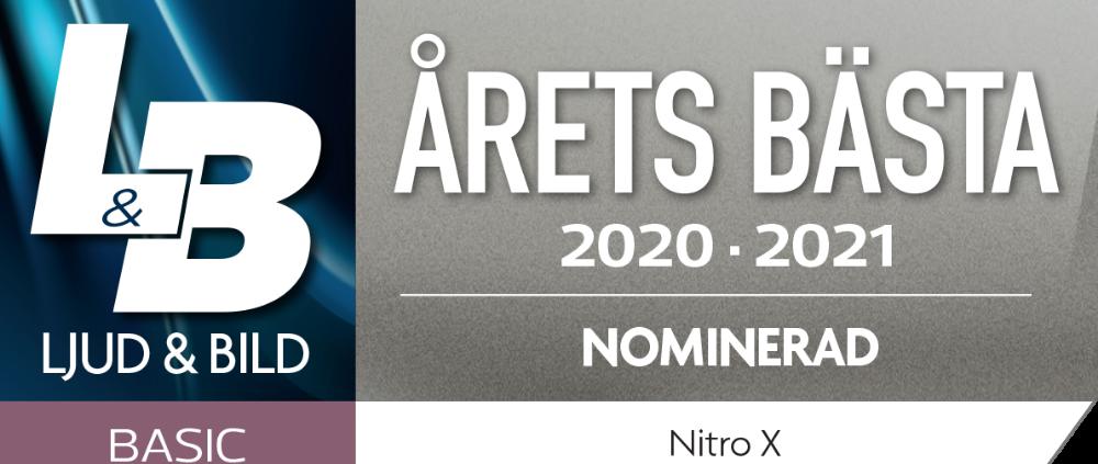 NiTRO-X - NOminerad årets bästa hörlur