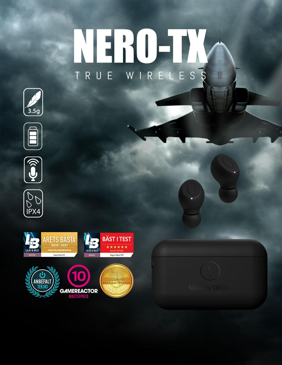 NERO-TX True Wireless hörlurar