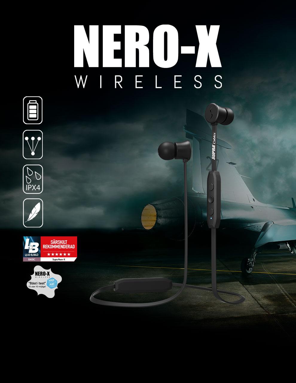 NERO-X Trådlösa In-Ear hörlurar